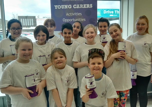 Oldham Young Carers on a fundraising spree
